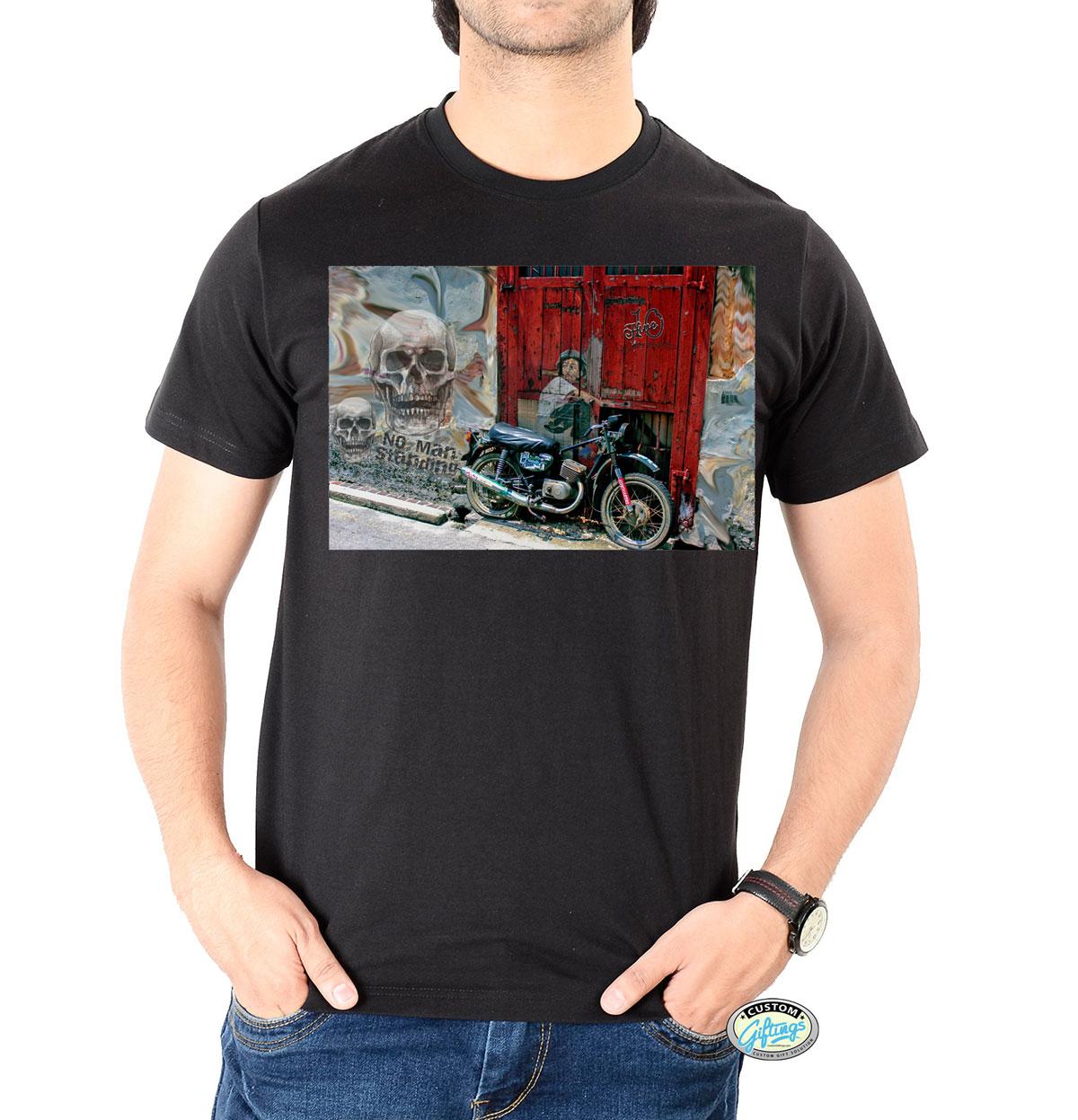 Dead Biker Custom Printed T-Shirt