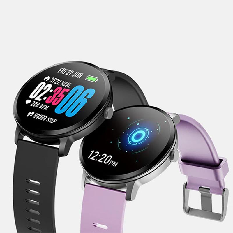 V11 Smart watch waterproof Tempered glass Activity Fitness tracker Heart  rate monitor Men women smartwatch