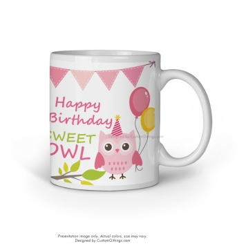 Custom Printed White Mug - Birthday Present Gift